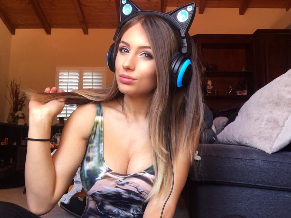 Liz Katz in Axentwear cat ear headphones