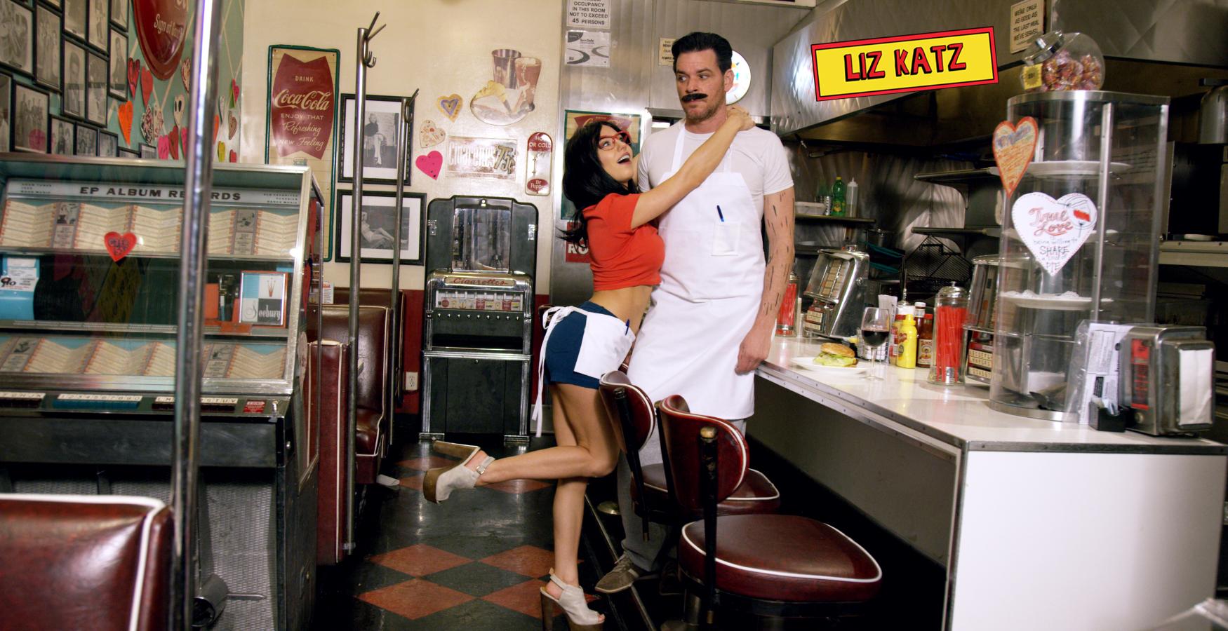 Bob's Burgers Cosplay with Liz Katz and Linda Belcher and Sam Macaroni as Bob