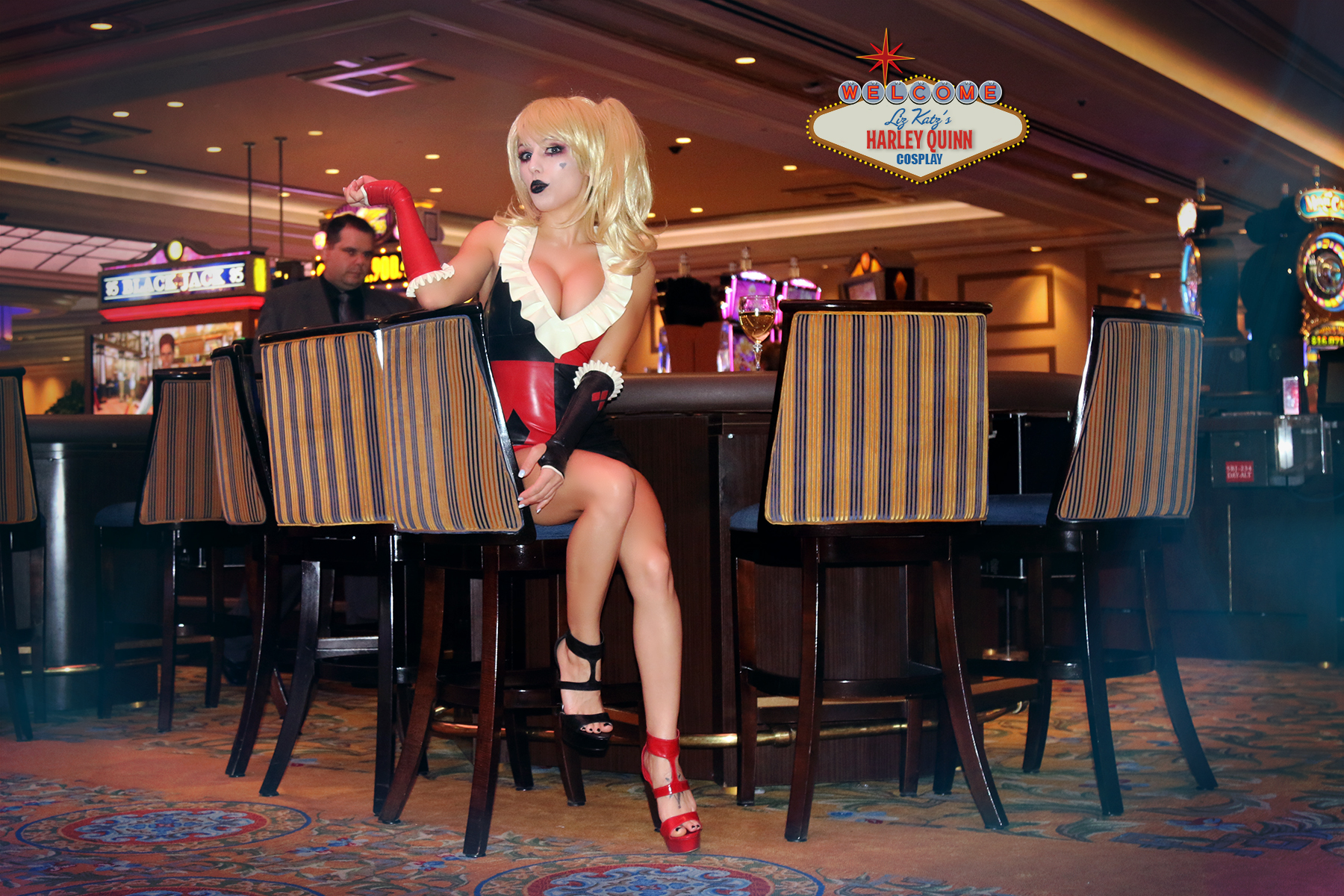 Casino Harley Quinn Cosplay at her Vegas Casino by Liz Katz