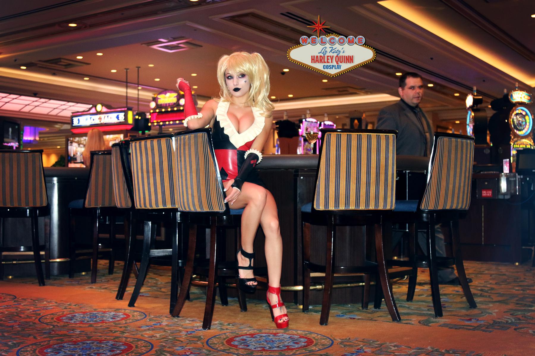 Harley Quinn Cosplay at her Vegas Casino by Liz Katz