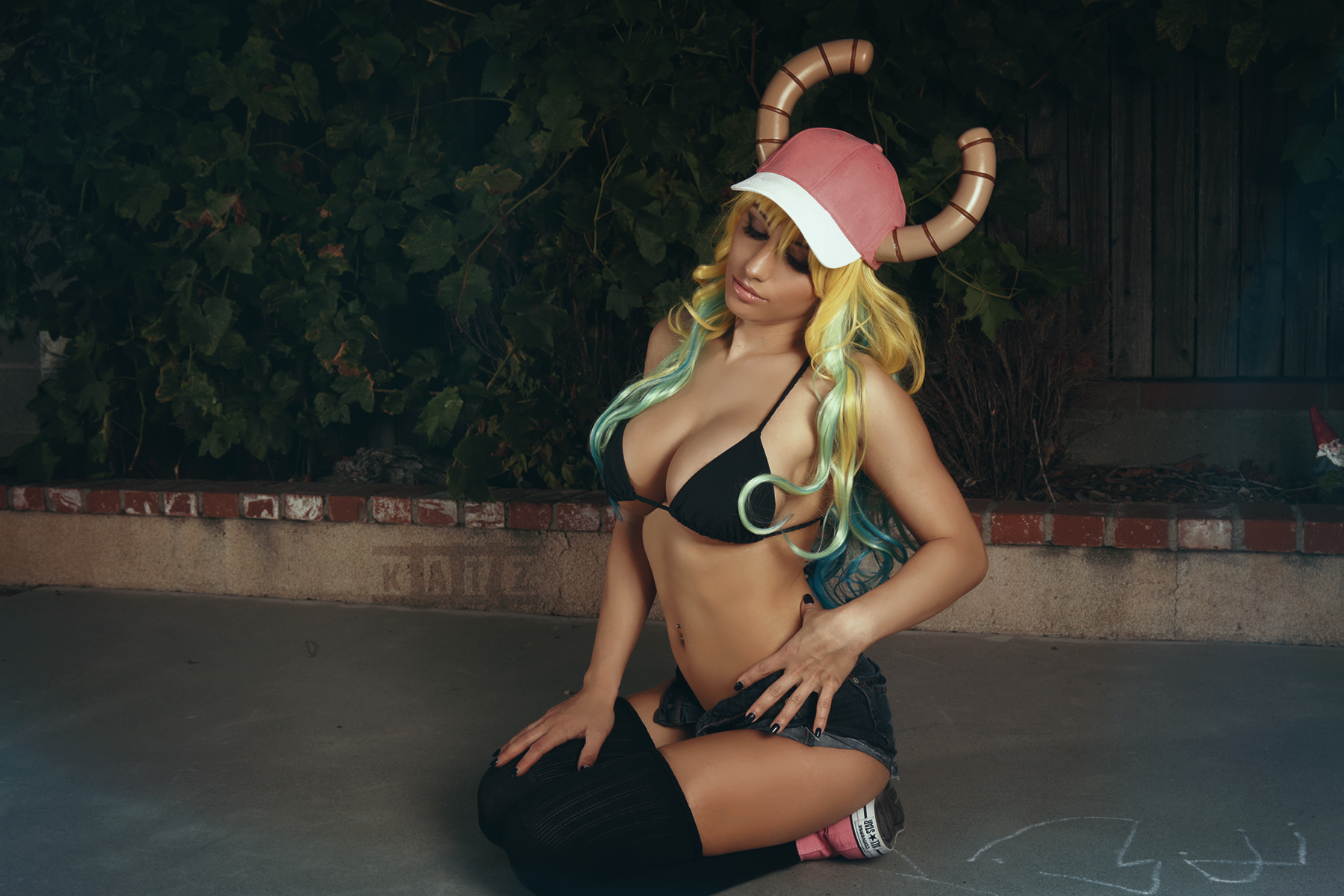 Quetzalcoatl aka Lucoa Cosplay from Miss Miss Kobayashi's Dragon Maid by Liz Katz and Soda Props.