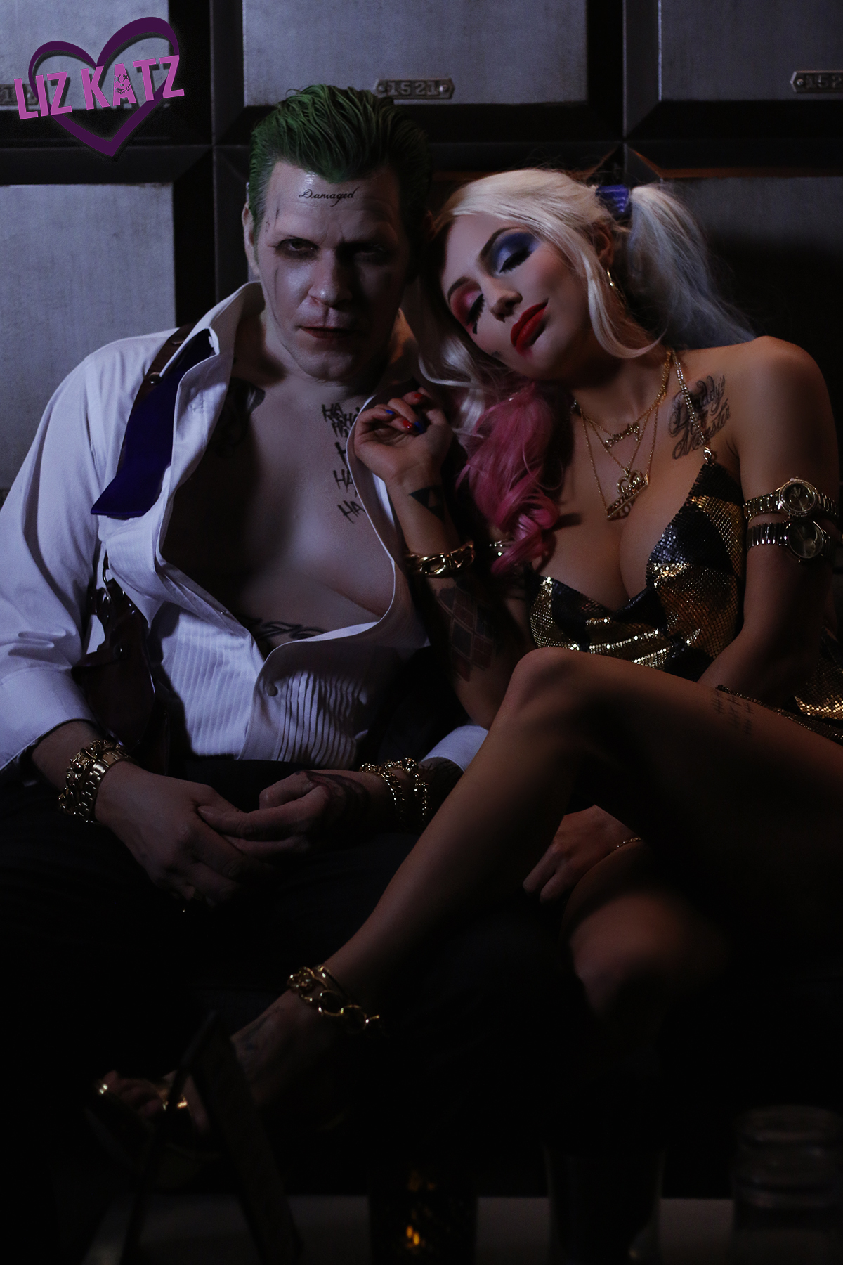 Suicide Squad Harley Quinn cosplay and Joker Cosplay in Mr. J and I by Liz Katz and Sam Macaroni